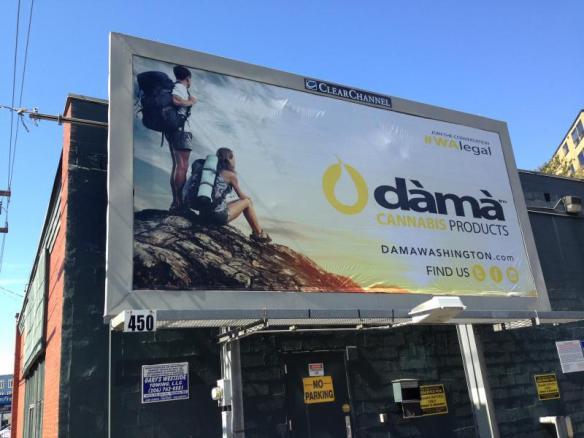 Dama's billbaord in Lower Queen Anne in Seattle. Photo by GABRIEL SPITZER KPLU