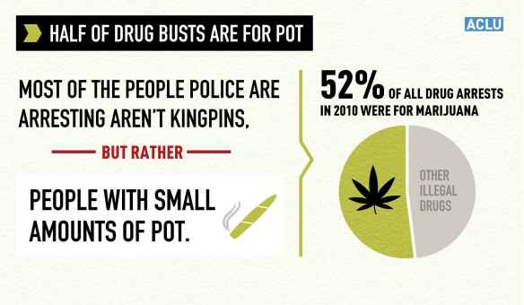 Marijuana Arrests By the Numbers. Graphic from ACLU website.
