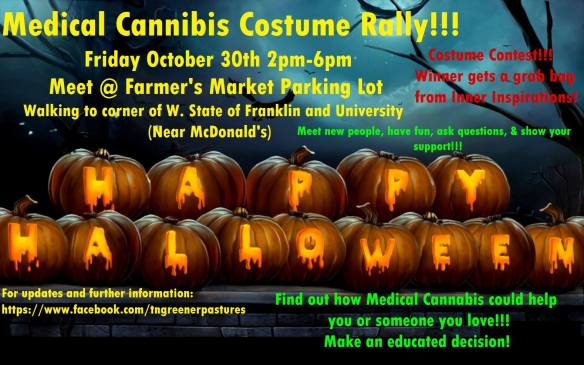 Medical cannabis rally led by Seth Green. October 30, 2015, at 2:00pm in Johnson City, Tennessee.
